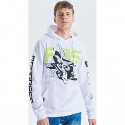 Bluza z kapturem - Biały. Białe bluzy męskie rozpinane marki Cropp, l, z kapturem. Za 129,99 zł.