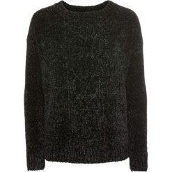 Swetry klasyczne damskie: Sweter z szenili bonprix czarny