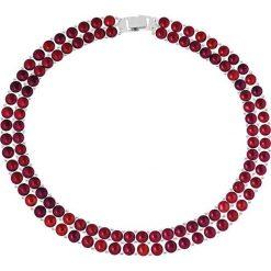 Naszyjniki damskie: Naszyjnik w kolorze czerwonym z pereł – dł. 40 cm