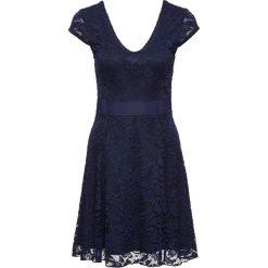 Sukienki: Sukienka z dżerseju z koronką bonprix ciemnoniebieski