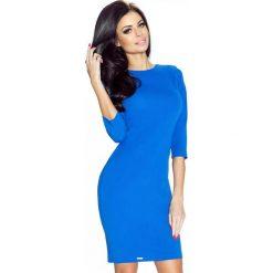 Sukienki: Chabrowa Sukienka Ołówkowa z Dekoltem na Plecach