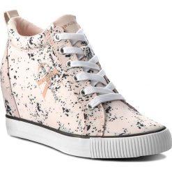 Sneakersy CALVIN KLEIN JEANS - Ritzy RE9798 Pink. Czerwone sneakersy damskie Calvin Klein Jeans, z jeansu. Za 519,00 zł.