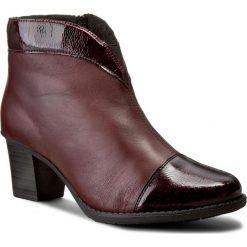 Botki RIEKER - Z7664-35 Red. Czarne buty zimowe damskie marki Rieker, z materiału. W wyprzedaży za 209,00 zł.