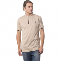 Koszulka polo w kolorze beżowo-czarnym. Brązowe koszulki polo marki Roberto Cavalli, Trussardi, m, z haftami. W wyprzedaży za 319,95 zł.