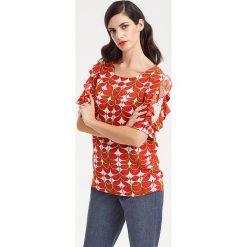 Odzież damska: Bluzka w kolorze czerwono-białym
