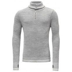 Devold Sweter Randers Zip Neck Grey Mel./Offwhite Xl. Szare swetry klasyczne męskie Devold, m, z dzianiny, z klasycznym kołnierzykiem. Za 495,00 zł.