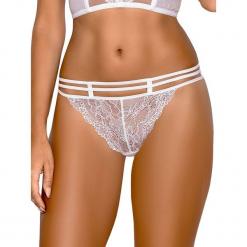 """Stringi """"Safona"""" w kolorze białym. Szare stringi marki Esprit. W wyprzedaży za 42,95 zł."""