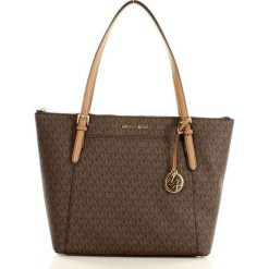 Markowa torebka shopper tote bag  MICHAEL KORS - CIARA - BROWN/ ACRN. Brązowe shopper bag damskie Michael Kors. Za 1399,00 zł.