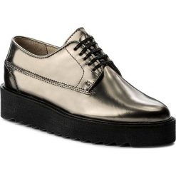 Creepersy damskie: Oxfordy MARC O'POLO - 708 14243401 102 Gunmetal 176