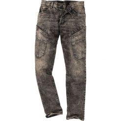 """Dżinsy ze stretchem Slim Fit Straight bonprix czarny """"used"""". Czarne jeansy męskie relaxed fit marki bonprix, z jeansu. Za 139,99 zł."""