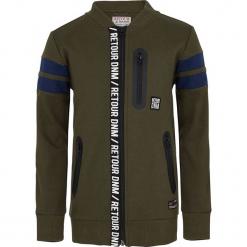 Bluza w kolorze ciemnozielonym. Zielone bluzy chłopięce marki Retour Denim de Luxe, z aplikacjami. W wyprzedaży za 125,95 zł.
