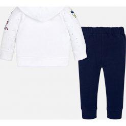 Mayoral - Komplet dziecięcy (bluza + spodnie) 68-98 cm. Szare bluzy dziewczęce rozpinane Mayoral, z nadrukiem, z bawełny, z długim rękawem, długie, z kapturem. Za 159,90 zł.
