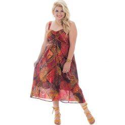 Sukienki: Sukienka w kolorze czerwono-pomarańczowo-żółtym