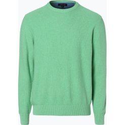 Andrew James - Sweter męski, zielony. Zielone swetry klasyczne męskie Andrew James, m, z bawełny. Za 179,95 zł.