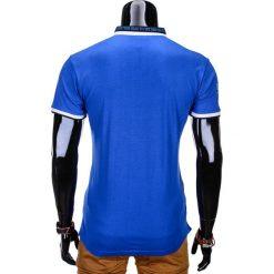 T-shirty męskie: T-SHIRT MĘSKI BEZ NADRUKU S765 – NIEBIESKI