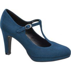 Buty ślubne damskie: czółenka damskie Graceland niebieskie