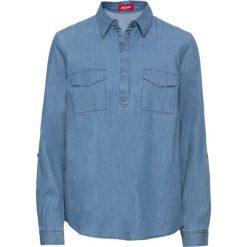 Tunika dżinsowa, długi rękaw bonprix jasnoniebieski. Niebieskie tuniki damskie z długim rękawem bonprix. Za 49,99 zł.