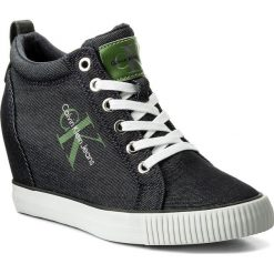 Sneakersy CALVIN KLEIN JEANS - Ritzy Denim R8957 Indigo. Niebieskie sneakersy damskie marki Calvin Klein Jeans, z denimu. W wyprzedaży za 319,00 zł.