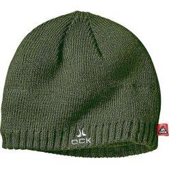 Czapka w kolorze khaki. Szare czapki zimowe damskie marki OCK. W wyprzedaży za 34,95 zł.