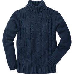 Sweter z golfem bonprix ciemnoniebieski. Niebieskie golfy męskie marki bonprix, m. Za 89,99 zł.