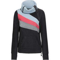 Bluzy polarowe: Bluza rozpinana z polaru bonprix czarno-kolorowy
