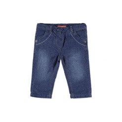 Chinosy chłopięce: Staccato Girls Baby Spodnie Termojeans Punkte blue denim