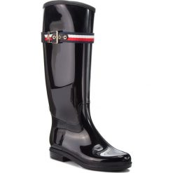 Kalosze TOMMY HILFIGER - Corporate Belt Long FW0FW03601 Black 990. Czarne buty zimowe damskie TOMMY HILFIGER, z materiału. W wyprzedaży za 359,00 zł.