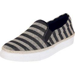 Refresh Striped Slip On Buty sportowe czarny/beżowy. Brązowe trampki damskie slip on marki NEWFEEL, z gumy. Za 79,90 zł.