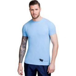 T-shirt NICODEMO TSNS000014. Niebieskie t-shirty męskie Giacomo Conti, na lato, m, z aplikacjami, z bawełny. Za 79,00 zł.