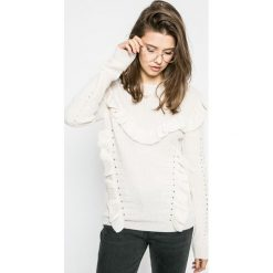 Review - Sweter. Szare swetry klasyczne damskie Review, l, z dzianiny, z okrągłym kołnierzem. W wyprzedaży za 79,90 zł.
