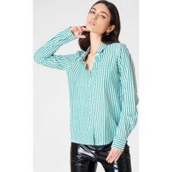 Paski damskie: Rut&Circle Koszula w paski Ina – Green,Multicolor