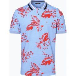 Calvin Klein - Męska koszulka polo, niebieski. Niebieskie koszulki polo Calvin Klein, l, z nadrukiem, z bawełny. Za 249,95 zł.