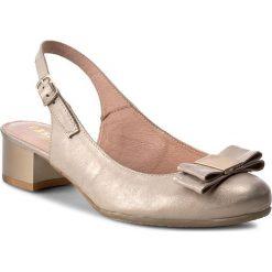 Rzymianki damskie: Sandały EKSBUT – 35-3870-I13-1G Beż/Złoto
