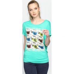 Bluzki damskie: Jasnozielony T-shirt Fun And Games