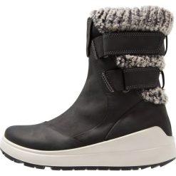 Ecco NOYCE Śniegowce black. Czarne buty zimowe damskie ecco, z materiału. Za 699,00 zł.