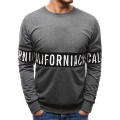 Bluzy męskie: Bluza męska z nadrukiem antracytowa (bx3493)
