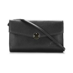 Torebki klasyczne damskie: Skórzana torebka w kolorze czarnym – (S)25 x (W)15 x (G)3 cm