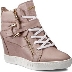 Sneakersy CARINII - B3972  K14-000-000-B88. Czerwone sneakersy damskie Carinii, z materiału. W wyprzedaży za 319,00 zł.
