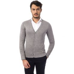 Swetry rozpinane męskie: Sweter w kolorze jasnoszarym