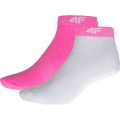 Skarpetki damskie: Skarpetki damskie SOD206 – biały+różowy neon