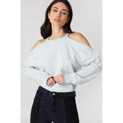 NA-KD Bluza sportowa z odkrytymi ramionami - Grey. Szare bluzy sportowe damskie marki NA-KD. W wyprzedaży za 70,67 zł.