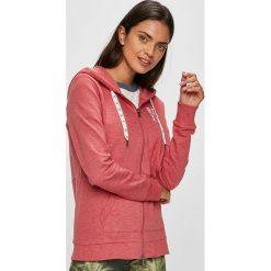 Roxy - Bluza. Różowe bluzy rozpinane damskie Roxy, l, z bawełny, z kapturem. W wyprzedaży za 199,90 zł.