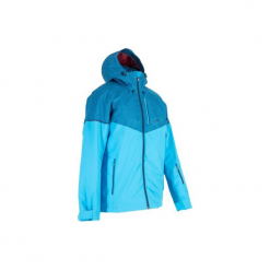 Kurtka narciarska JKT SKI All Mountain 580 męska. Niebieskie kurtki męskie bomber WED'ZE, m, z materiału, narciarskie. Za 249,99 zł.