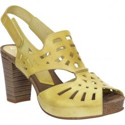 Sandały skórzane ażurowe Ana Roman 17338. Brązowe sandały damskie Ana Roman, w ażurowe wzory. Za 239,99 zł.