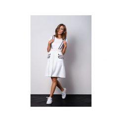 Spódniczki: Biała elegancka spódnica na szelkach z kieszeniami ELLE
