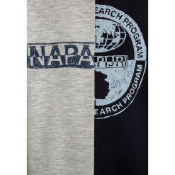Napapijri Bluza multicolour. Szare bluzy chłopięce marki Napapijri, l, z materiału, z kapturem. Za 239,00 zł.