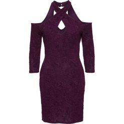 Sukienki: Sukienka wieczorowa bonprix ciemny lila wzorzysty