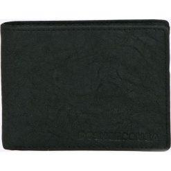 Dc - Portfel. Czarne portfele męskie DC, z materiału. W wyprzedaży za 89,90 zł.