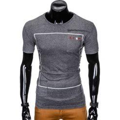 T-SHIRT MĘSKI Z NADRUKIEM S954 - GRAFITOWY. Szare t-shirty męskie z nadrukiem Ombre Clothing, m. Za 29,00 zł.