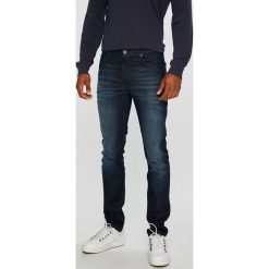 Lee - Jeansy Rider. Niebieskie jeansy męskie slim marki Lee, z bawełny. Za 349,90 zł.